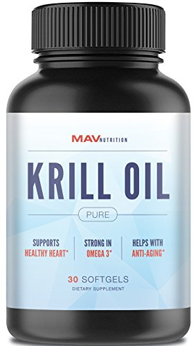 Premium Krill Oil Pure 100% Pure Cold Pressed Antarctic Krill Oil - EPA - DHA - Astaxanthin - Brain Health + Memory + Focus + Joint + Cardiovascular