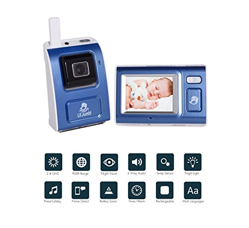 Infant Secure Wireless Baby Digital Video Monitor Surveillance Camera w/Night Vision, Temperature...