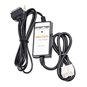 Astra Depot 3.5mm Jack AUX Interface Adapter Audio Input For iPhone iPod iPad Direct Fit Honda Accord Element S2000 Odyssey Civic CRV Pilot