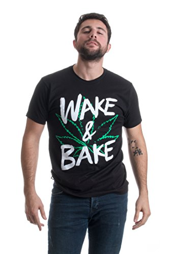 Wake & Bake | Funny Marijuana Pot Leaf Weed Smoking Stoner Humor Unisex T-shirt