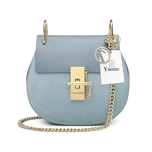 Chain Girls Blue Style Crossbody Mini Ring Bag For Bag U Punk Bag Clutch Flap Light Bags Yoome Envelope HwfUqYF