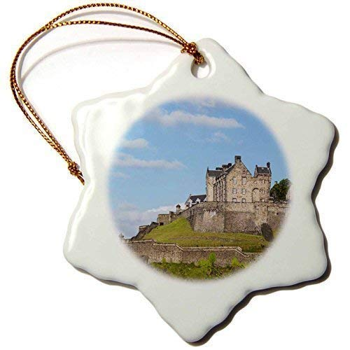 Lionkin8 Scotland, Edinburgh, Edinburgh Castle Cindy Inspireds Snowflake Ornament, Porcelain, 3 ()