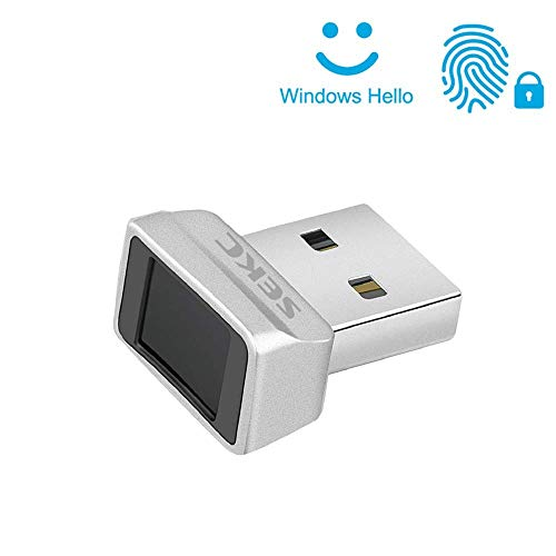SEKC USB Fingerprint Reader for Windows 10 Hello, 0.05s 360 Degrees Sensor Fingerprint Security Device