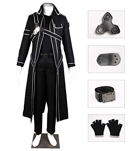 DAZCOS US Size Men's Kirito Cosplay Costume (Men (Kirito And Asuna Costumes)