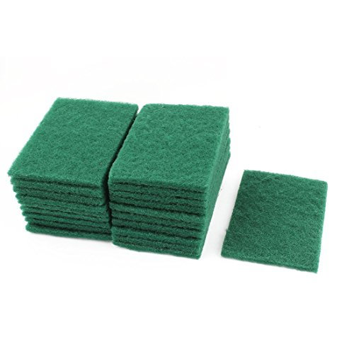 Home Kitchen Bowl Dish Wash Clean Scrub Sponge Cleaning Pads Green 6Pcs