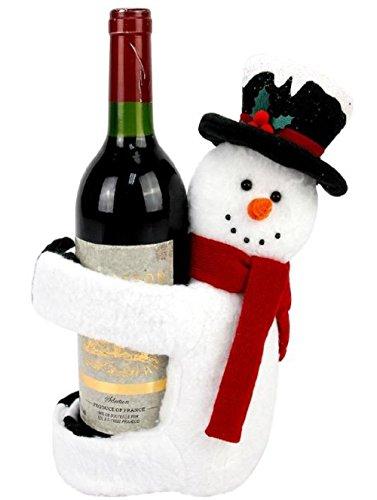 Snowman Bottle Hugger - St. Nicholas Square Snowman Wine Bottle Hugger