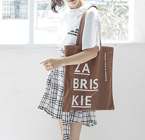 Main À File Sacs Fourre En Simple Light tout Shopping Bandoulière café Sac Toile gRPf1w