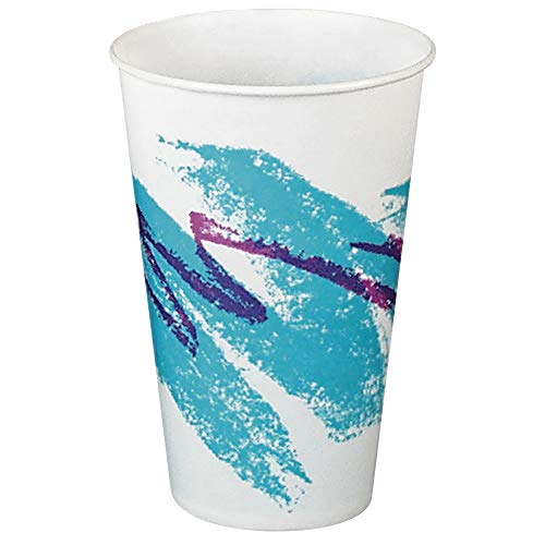 12 Oz Waxed Cold Cup - Solo R12N-00055 12 oz Jazz Waxed Paper Cold Cup (Case of 2000)