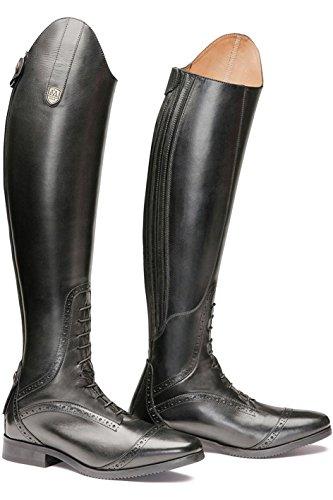 Mountain Ruiter Superieure Hoge Laarzen Zwarte Schoenen Kuitomvang - Regelmatig / Smalle Schoenen Maat - 40