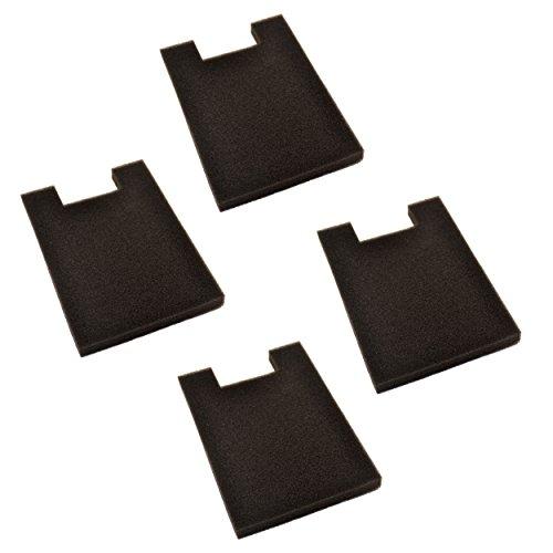 HQRP 4-pack Foam Filter for Eureka 2950 / 2960 / 2990 Series Bagless Upright Vacuums + HQRP - Dust Foam Cup Filter