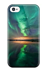 Jocelynn Trent's Shop 4695236K97930878 New Premium Case Cover For Iphone 4/4s/ Aurora Over Lake Protective Case Cover