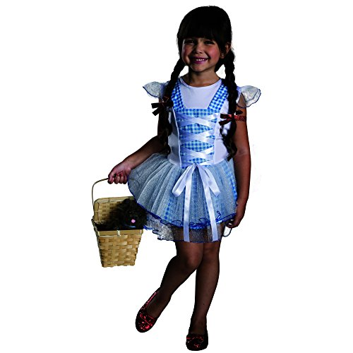 Rubies Wizard of Oz 75th Anniversary Dorothy Tutu Dress Costume, Child (Wizard Of Oz Dorothy Child Wig)