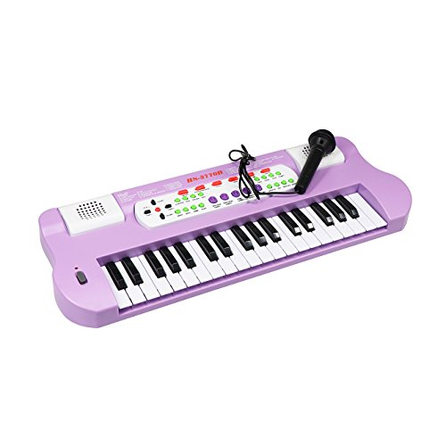 Large Size Piano for Kids, aPerfectLife 37 Keys Multi-function Kids Electronic Keyboard Piano (Purple)
