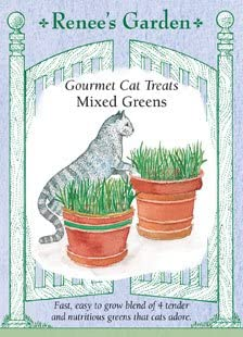 Renee s Garden Seeds Cat Treats, Gourmet, Mixed Greens