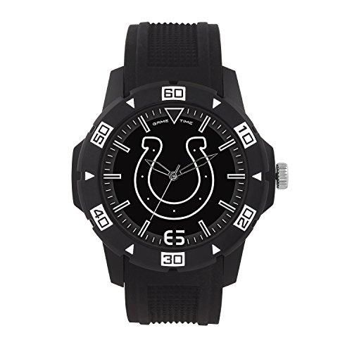 (NFL Indianapolis Colts Mens Automatic Series Wrist Watch, Black, One Size)