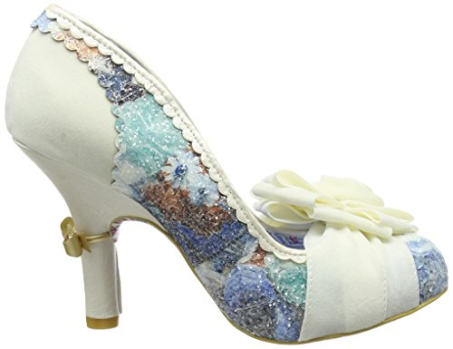 Irregular Choice Washington, Tacones Mujer Blanco roto (Cream)
