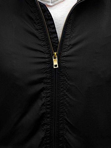 Con Desmontable Con Cremallera Variedad Una Prácticos Chaqueta De y BOLF Multipurpose bolsillos Hombre Negro Capucha Water y Windproofsystem qax0zE0wR