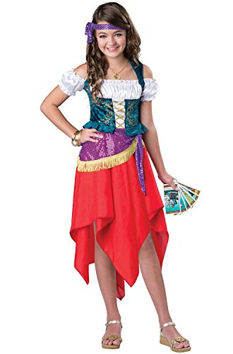 [InCharacter Costumes Mystical Gypsy Costume, One Color, Size 12] (Gypsy Costumes Girl)