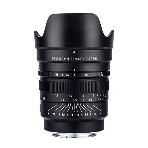 VILTROX 20mm f1.8 Wide-Angle Fixed/Prime Lens for Sony E-Mount,Manual Focus