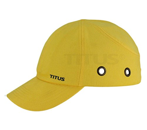 Titus Lightweight Safety Bump Cap - Baseball Style Protective Hat (Yellow)