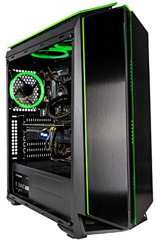 CUK Mantis Custom Gaming PC (Intel i7-8700K, 16GB RAM, 1TB SSD, NVIDIA GeForce RTX 2070 8GB, 500W Bronze PSU, Windows 10) The Best New VR Ready Tower Desktop Computer for Gamers