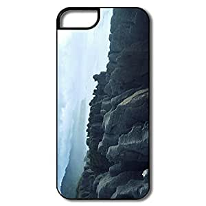 IPhone 5 Cases, Pancake Rock Cover For IPhone 5/5S - White/black Hard Plastic