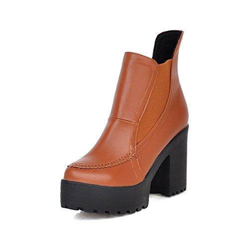 tonda inverno e europea QX e spessore contemporanea americana testa In con e in impermeabile di tacchi alti set di piedi autunno dello stivali i Taiwan nudi scarpe ZQ con di yellow calzature wX0txqZZ