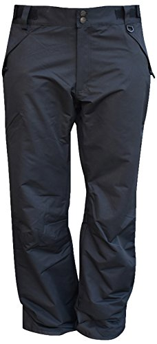 Pulse Mens Big and Tall Snow Skiing Insulated Technical Pants (3XL Tall, Black)