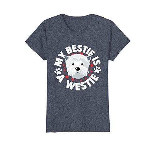 Womens Westie Tshirt Westie Gifts West Highland White Terrier Gifts XL Heather Blue