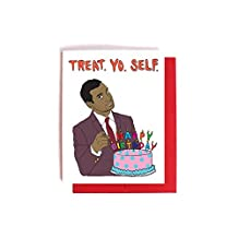 Tom Haverford Treat Yo Self Birthday Card -- Parks and Recreation Card