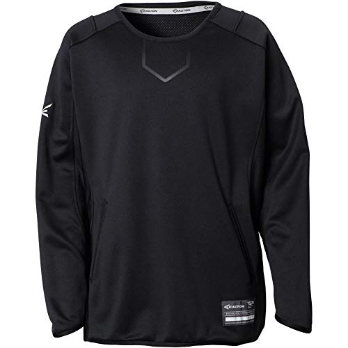 - Easton Alpha Fleece Pullover Youth Black Small-Medium