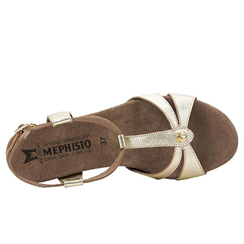 Mephisto Womens Briana Yellow Leather Sandals 41 EU
