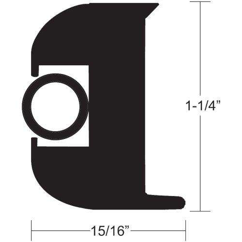 "1 1/4""Black/Black Kit Flexrubrail50"