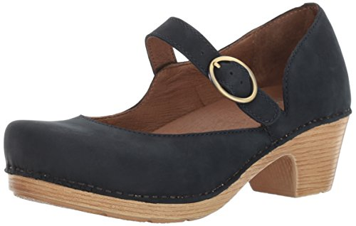 Dansko Women's Missy Mary Jane Flat, Navy Milled Nubuck, 39 EU/8.5-9 M US