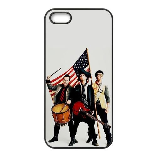 Green Day 003 2 coque iPhone 5 5S cellulaire cas coque de téléphone cas téléphone cellulaire noir couvercle EOKXLLNCD24125
