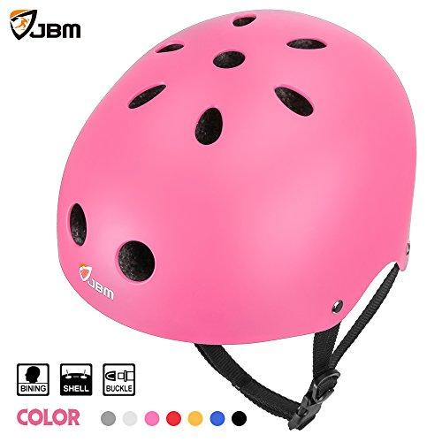 JBM Skateboard Helmet CPSC ASTM Certified Impact resistance Ventilation for Multi-sports Cycling Skateboarding Scooter Roller Skate Inline Skating Rollerblading Longboard (Bicycle Roller)