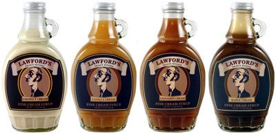 Lawford's Private Reserve Syrups--Set of Four