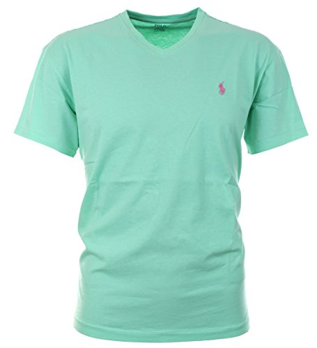 Polo Ralph Lauren Men's Classic Fit V-neck T-shirt-Tyler Green-Large (Ralph Lauren Men Clothing compare prices)