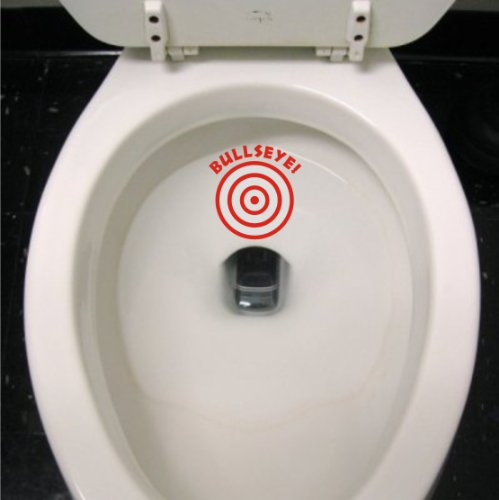 Target Decals - Potty Training Bullseye Decal - Boys sticker Kids Aim Toilet funny target