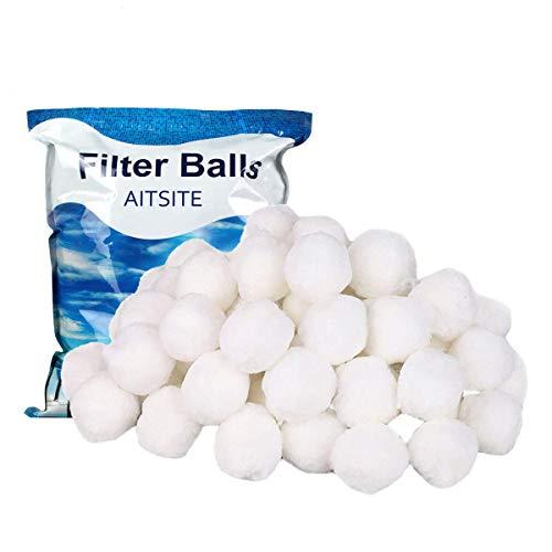 Bag Filter Lb Media 50 - Aitsite 1.5 lbs Pool Filter Balls Eco-Friendly Fiber Filter Media for Swimming Pool Sand Filters (Equals 50 lbs Pool Filter Sand)