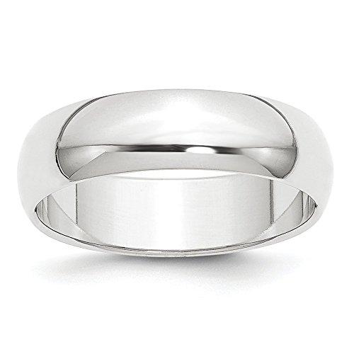 Sonia Jewels Size 11 Platinum 6mm Half-Round Featherweight Wedding Band