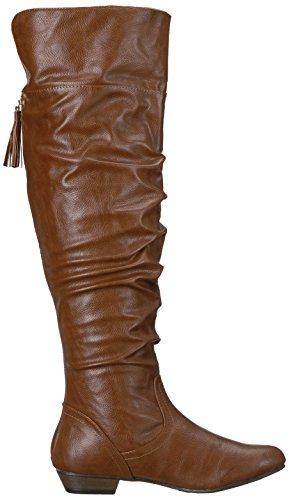 Fergalicious Damen Rookie Wide Calf Slouch Boot Cognac