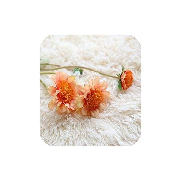 10PCS Artificial Flower Simulation Orchid Daisy Gerbera Flowers for Wedding Bridal Bouquets Home Party Event Table Decorative,5