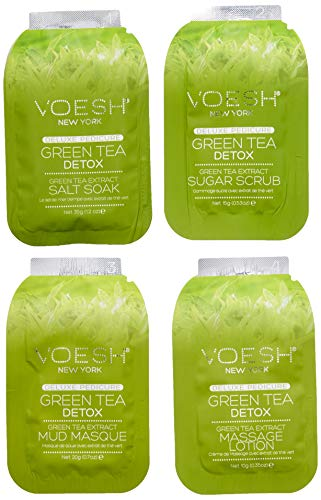 VOESH Pedi In A Box Deluxe 4 Step, Green Tea