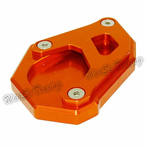 waase Motorcycle Kickstand Foot Side Stand Extension Pad Support Plate For KTM 1050 1090 1190 1290 Adventure (Orange) by waase (Image #6)