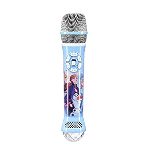 Disney Frozen 2 Bluetooth Karaoke Microphone with LED Disco Party Lights, Portable Bluetooth Speaker Compatible with…