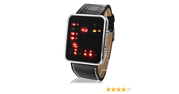Reloj Binario - futurista estilo japonés Multicolor LED Watch - Binary Watch - Futuristic Japanese Style: Amazon.es: Relojes