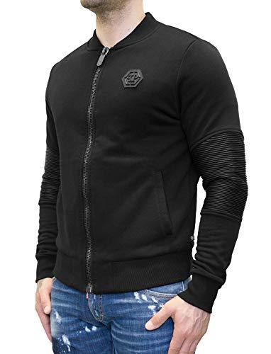 20eb6203d4cda Philipp Plein Jogging Sweatshirt Zipped Jacket - Love U (L) Black   Amazon.co.uk  Clothing