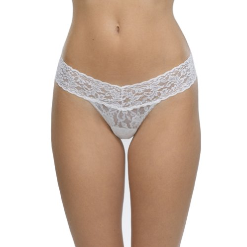- Hanky Panky Women's Signature Lace Original Rise Thong Panty, White, One Size