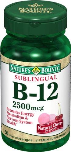 Nature Bounty Sublingual vitamine B-12, 2500mcg, 50 comprimés (lot de 3)
